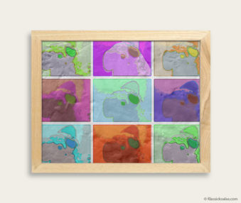 Pop Art Koalas Encaustic Painting 8-by-10 Inch Frame 8