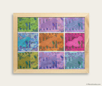 Pop Art Koalas Encaustic Painting 8-by-10 Inch Frame 9