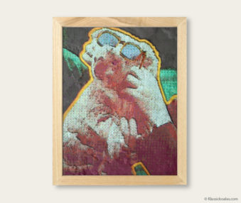 Pop Art Koalas Encaustic Painting 8-by-10 Inch Frame V 5