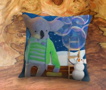 Snow Koalas App Icon 22-Inch Linen Pillow
