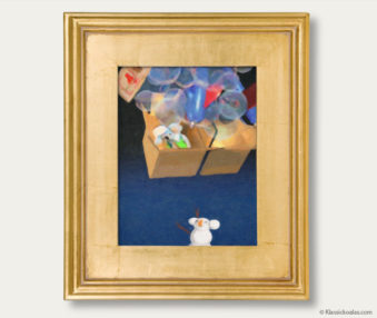 Snow Koalas Classic Painting 11-by-14 Inches Gold Frame 11