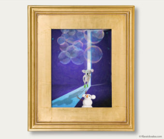 Snow Koalas Classic Painting 11-by-14 Inches Gold Frame 13