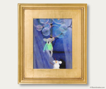 Snow Koalas Classic Painting 11-by-14 Inches Gold Frame 17