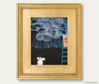 Snow Koalas Classic Painting 11-by-14 Inches Gold Frame 19