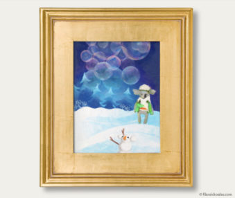 Snow Koalas Classic Painting 11-by-14 Inches Gold Frame 26