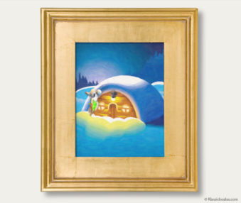 Snow Koalas Classic Painting 11-by-14 Inches Gold Frame 33