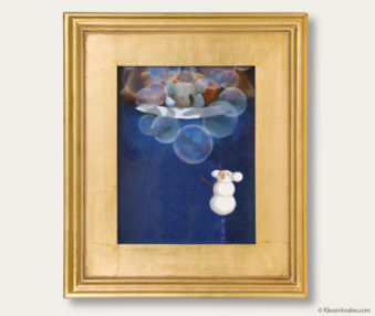 Snow Koalas Classic Painting 11-by-14 Inches Gold Frame 37