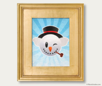 Snow Koalas Classic Painting 11-by-14 Inches Gold Frame 39