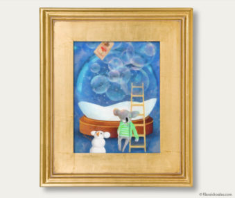 Snow Koalas Classic Painting 11-by-14 Inches Gold Frame 4