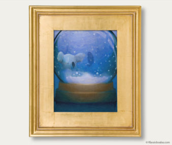Snow Koalas Classic Painting 11-by-14 Inches Gold Frame 6