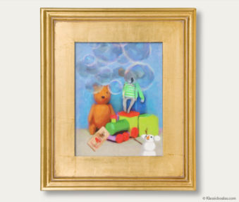 Snow Koalas Classic Painting 11-by-14 Inches Gold Frame 8