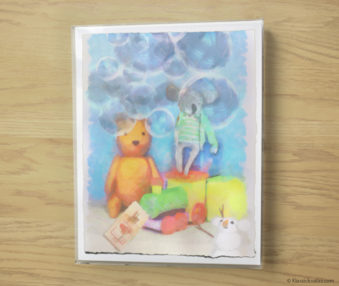 Snow Koalas Watercolor Pastel Painting 10-by-14 Inches Frame 2