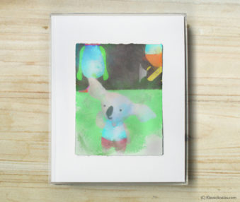 Space Koalas Watercolor Pastel Painting 8-by-10 Inch Frame 10