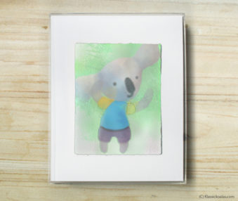Space Koalas Watercolor Pastel Painting 8-by-10 Inch Frame 15
