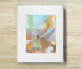 Space Koalas Watercolor Pastel Painting 8-by-10 Inch Frame 17