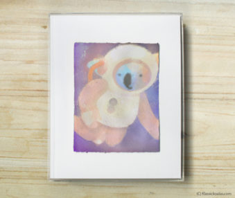 Space Koalas Watercolor Pastel Painting 8-by-10 Inch Frame 19