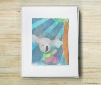 Space Koalas Watercolor Pastel Painting 8-by-10 Inch Frame 20