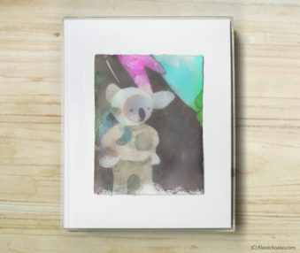 Space Koalas Watercolor Pastel Painting 8-by-10 Inch Frame 22