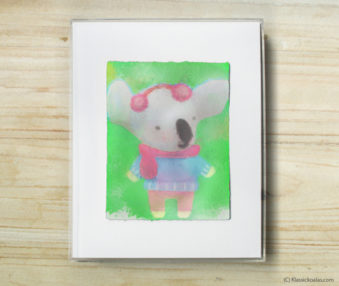 Space Koalas Watercolor Pastel Painting 8-by-10 Inch Frame 23