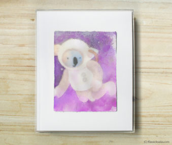 Space Koalas Watercolor Pastel Painting 8-by-10 Inch Frame 26