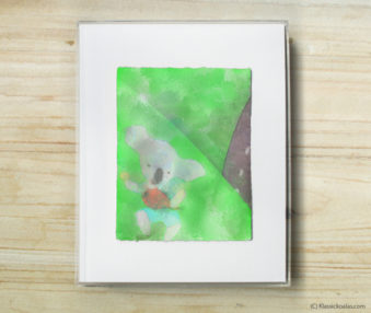 Space Koalas Watercolor Pastel Painting 8-by-10 Inch Frame 28