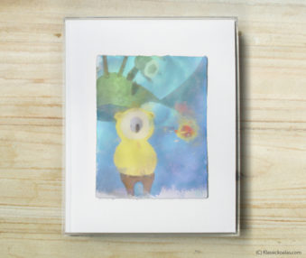 Space Koalas Watercolor Pastel Painting 8-by-10 Inch Frame 3