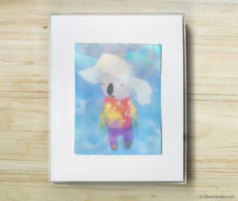 Space Koalas Watercolor Pastel Painting 8-by-10 Inch Frame 31