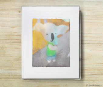 Space Koalas Watercolor Pastel Painting 8-by-10 Inch Frame 32