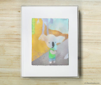 Space Koalas Watercolor Pastel Painting 8-by-10 Inch Frame 34