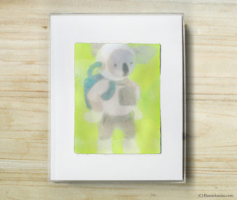Space Koalas Watercolor Pastel Painting 8-by-10 Inch Frame 35