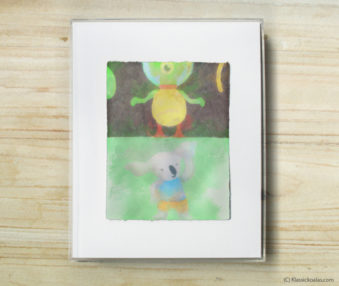 Space Koalas Watercolor Pastel Painting 8-by-10 Inch Frame 38