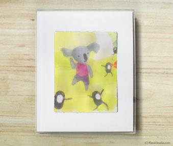 Space Koalas Watercolor Pastel Painting 8-by-10 Inch Frame 4