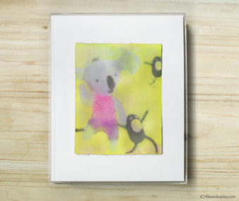 Space Koalas Watercolor Pastel Painting 8-by-10 Inch Frame 40