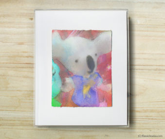 Space Koalas Watercolor Pastel Painting 8-by-10 Inch Frame 41