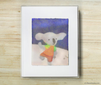 Space Koalas Watercolor Pastel Painting 8-by-10 Inch Frame 42