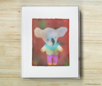 Space Koalas Watercolor Pastel Painting 8-by-10 Inch Frame 43