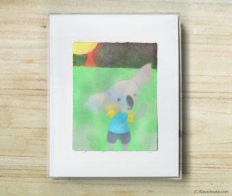 Space Koalas Watercolor Pastel Painting 8-by-10 Inch Frame 44
