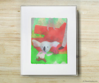 Space Koalas Watercolor Pastel Painting 8-by-10 Inch Frame 46