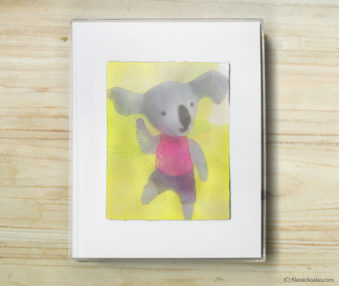 Space Koalas Watercolor Pastel Painting 8-by-10 Inch Frame 47