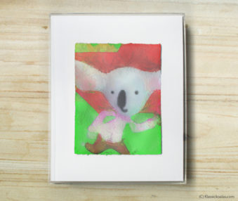 Space Koalas Watercolor Pastel Painting 8-by-10 Inch Frame 48