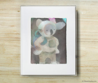 Space Koalas Watercolor Pastel Painting 8-by-10 Inch Frame 49