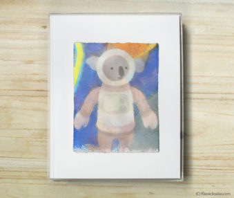 Space Koalas Watercolor Pastel Painting 8-by-10 Inch Frame 50