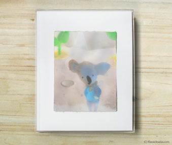 Space Koalas Watercolor Pastel Painting 8-by-10 Inch Frame 6