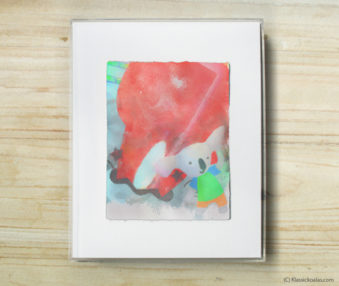 Space Koalas Watercolor Pastel Painting 8-by-10 Inch Frame 8
