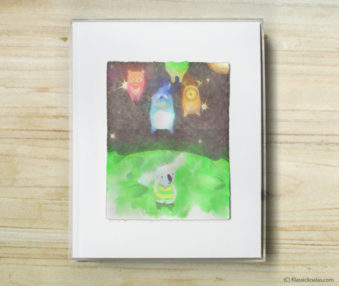 Space Koalas Watercolor Pastel Painting 8-by-10 Inch Frame 9
