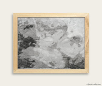 Stylized Koala Drawing Encaustic Painting 8-by-10 Inch Frame 15