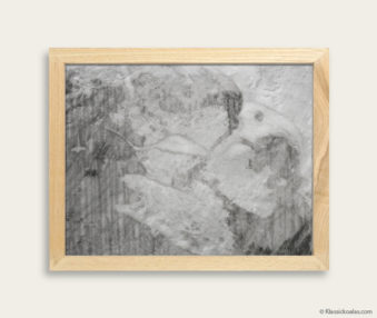 Stylized Koala Drawing Encaustic Painting 8-by-10 Inch Frame 19