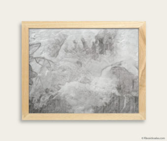 Stylized Koala Drawing Encaustic Painting 8-by-10 Inch Frame 20