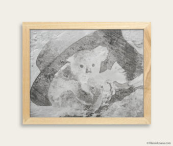 Stylized Koala Drawing Encaustic Painting 8-by-10 Inch Frame 5