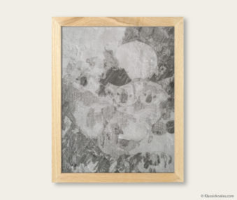 Stylized Koala Drawing Encaustic Painting 8-by-10 Inch Frame V 10